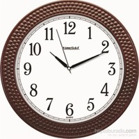 Kahverengi Boncuk Okunaklı Duvar Saati