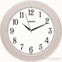 Beyaz Boncuk Okunaklı Duvar Saati