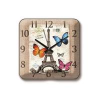 Time Gold Panaroma Duvar Saati Paris Kelebek