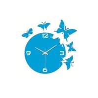 Time Gold Kelebek Duvar Saati Mavi