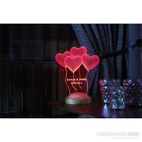 Kişiye Özel 3D Gece Lambası