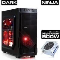 Dark Ninja 500W USB3.0, 3x Fan, Kart Okuyuculu Pencereli ATX Oyuncu Kasası (DKCHNINJA500)