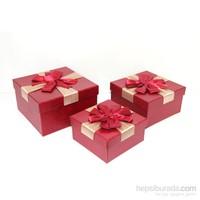 Aydindecor Renkli Mukavva Karton Üçlü Hediye Kutusu