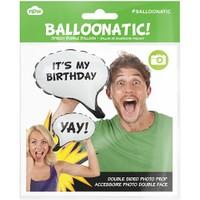 Npw Balloonatıc - Sosyal Ağ Konuşma Balonları - Yay/Its My Bırthday