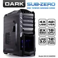 Dark Sub-Zero USB 3.0 3x12cm Fanlı SSD Ready ATX Siyah Oyuncu Kasası (DKCHSUBZERO)