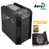 Aerocool XPredator Cube 750W 2xUSB3.0,Micro ATX Küp Kasa (Siyah) (AE-XPRCUBE750)