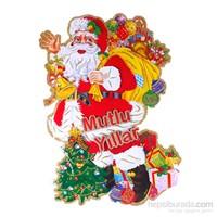 KullanAtMarket 3D Efektli Noel Baba Dev Poster
