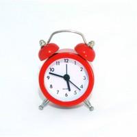 Gold Dekor Mini Çalar Saat Kırmızı