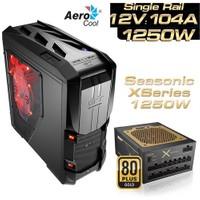 Aerocool GT-S 1250W 80+ Gold 2x USB 3.0, SSD Ready Full-Tower Oyuncu Kasası (AE-GTS-1250)