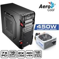 Aerocool GT 450W, 2x USB 2.0, SSD Ready Mid-Tower Oyuncu Kasası (AE-GT-450)