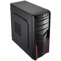 Aerocool V2X Red Edition 1xUSB 3.0 2xUSB 2.0 Siyah Oyuncu Kasası (AE-V2X-RD)