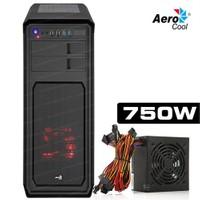AeroCool Aero 800 USB 3.0 4xFan 750W Siyah ATX Kasa (AE-AERO800-750)