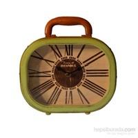 Yeşil Retro Bavul Masa Saati