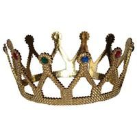 Pandoli Altın Renginde Kraliçe Tacı Plastik