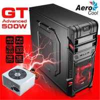 Aerocool GT Black Advanced Edition 500W USB 3.0 SSD Ready Mid-Tower Oyuncu Kasası (AE-GTA-500)