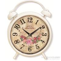 Çiçek Demeti Desenli Çalar Saat Görünümlü Saat