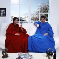 Uygun Giyilebilir Kollu Battaniye Siyah