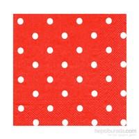 KullanAtMarket Kırmızı Puanlı Kağıt Peçete