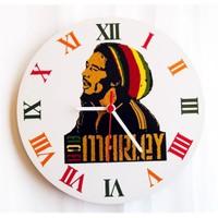 Köstebek Bob Marley Duvar Saati Ahşap Duvar Saati