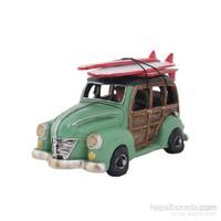 Yeşil Minibüs Figürlü Biblo