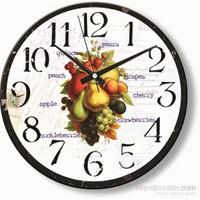 Meyveler Duvar Saati