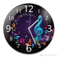 İf Clock Müzik Nota Duvar Saati