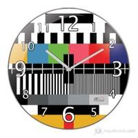 İf Clock Tv Test Duvar Saati
