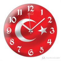 İf Clock Türk Bayrağı Duvar Saati