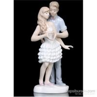 Sevgli Ve Aşk Figürlü Porselen Biblo