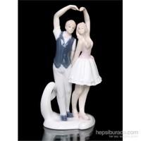 Aşk Ve Dans Figürlü Porselen Biblo