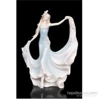 Balo Kıyafetli Kadın Figürlü Biblo