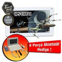 "Quadro Soft Touch7 8GB 7"" IPS Ekran Tablet + 8 Adet Hediye"