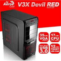 AeroCool V3X Advance Devil Red Edition 600W 80+ Bronze 1xUSB3.0 ATX Kasa (AE-V3XA600R80)