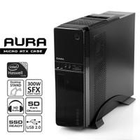 Dark Aura 300W Kart Okuyuculu, SSD Ready MicroATX / Mini ITX Kasa (DKCHAURA300)