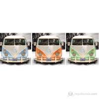 VW Camper Triptych Midi Poster