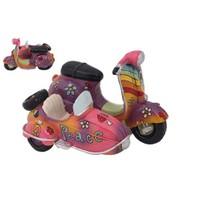 Rengarenk Motorsiklet Figürlü Kumbara