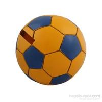 Sarı Lacivert Futbol Topu Figürlü Kumbara