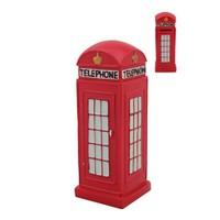 Kırmızı Telefon Kulubesi Figürlü Kumbara
