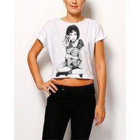 Köstebek Mathilda Yarım Bayan T-Shirt