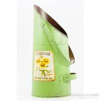 Metal Eskitme Desen Sulama Kabı Yeşil