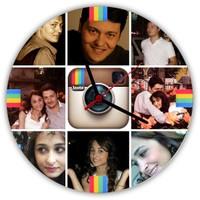 Kişiye Özel Instagram Temalı Duvar Saati