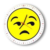Smiley Concept Mutlu Emoji Duvar Saati