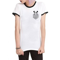 Köstebek Panda Bayan T-Shirt