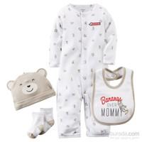 Carter's Layette Erkek Bebek 4'Lü Hastane Çıkış Seti 121D640