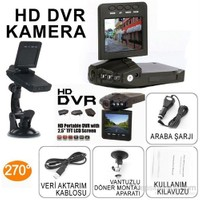 HD DVR Taşınabilir Araç Kamerası 2.5'' TFT LCD