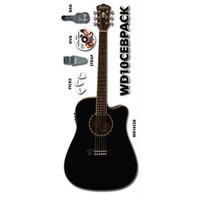 Akustik Gitar Seti Washburn Wd10Ceb Siyah