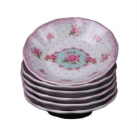 Key Porselen Lüks Çay Tabağı 6 Lı Rose Br-14