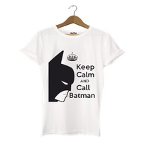 Dyetee Keep Calm Carry Batman Bayan T-Shirt