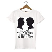 Dyetee Doctor Who - Sherlock Bayan T-Shirt
