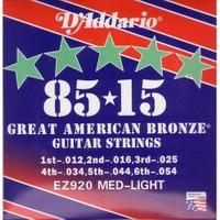 Daddario Ez920 Med-Light 012 Akustik Gitar Teli